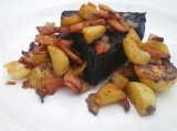 Baked Black Pudding with Bacon, Potato and Fresh Apple