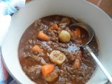 Beef shin Braised In Red Wine with Root Vegetables