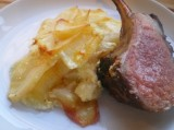 Lamb Rib-Rack with Creme de Cassis and Dauphinoise Potatoes