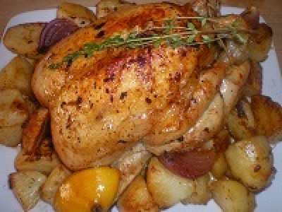 Roast Chicken In A Pot