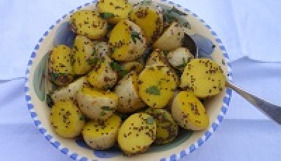 Saffron Infused Baby Potatoes