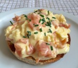 Scrambled Eggs and Smoked Salmon with Creme Fraiche