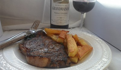 French Style Steak And Chips